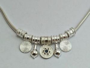 Catena in argento spessa a sezione tonda