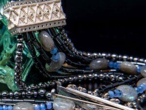 collana mosaico argento e pietre dure