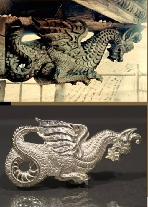 Ciondolo-drago ligneo di Pescocostanzo